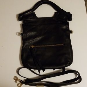 Foley + Corinna Disco City Black Leather Foldover